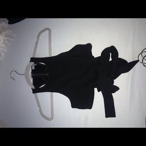 tobi black tie crop top